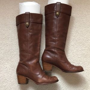 "Coach  ""fayth"" boots in ""whiskey"" brown"